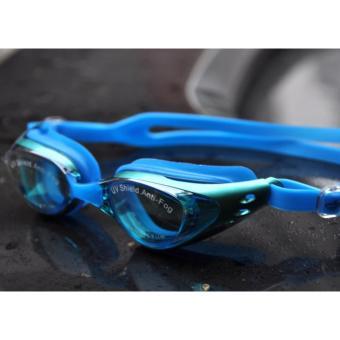 Kinh bơi Shenyu tráng bạc chống tia UV _Xanh da trời
