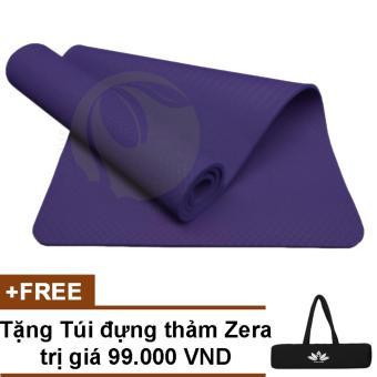 Thảm tập gym yoga TPE cao cấp 6mm 1 lớp + Tặng túi đựng thảm chống nước
