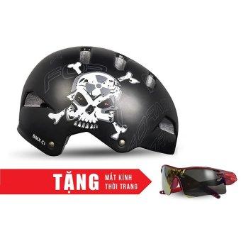 Nón bảo hộ cho người đi xe đạp FORNIX A02NC1 (Xương chéo) + Tặng Mắt kính thời trang