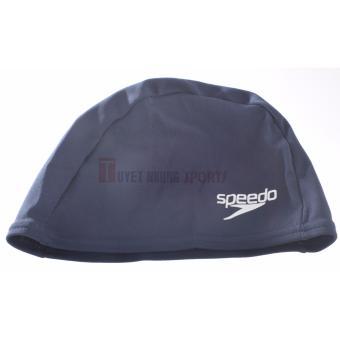 Nón Bơi Vải Speedo Polyester Junior Trẻ Em (Xanh Đậm)