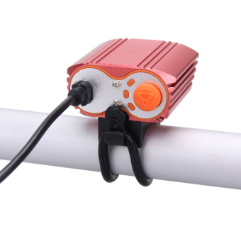 8000LM USB 2XCREE XM-L T6 LED Head Lamp Light Bicycle Headlight (Red) - intl
