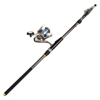 Carbon Telescopic Spinning Casting Pole Saltwater Sea Fishing rods Portable 4.5M - INTL