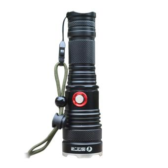 Universal CREE XML-T6 Flashlight Torch (Black) - Intl