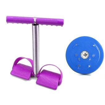 Bộ dụng cụ tập cơ bụng và đĩa xoay eo giảm cân 360 độ Clever Mart (Tím)