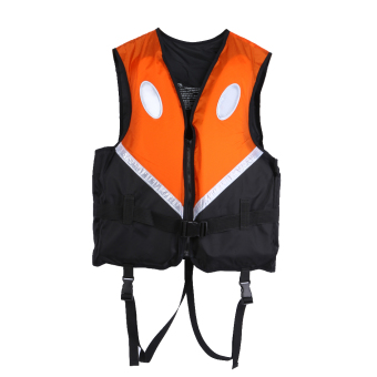 Professional Swimwear Adult Life Jacket Vest Survival Suit (Orange) - intl