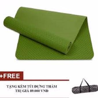 Thảm Tập Yoga TPE 1 Lớp 8mm cao cấp (Tặng túi đựng thảm thời trang)