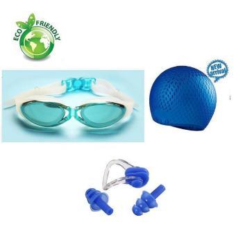 Kính bơi, Mũ bơi, bịt tai kẹp mũi G300 POPO Sport