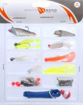 Bộ phụ kiện câu cá đầy đủ South Bend 47 món (mồi giả phao câu lưỡi câu chì...)