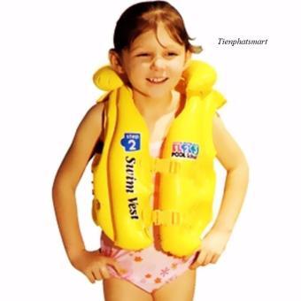 Áo phao OEM trẻ em nhập khẩu Swim West - Size M (Vàng chanh)