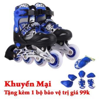 Giày trượt patin Long Feng 906 + Tặng bộ bảo vệ đầu gối, tay, chân