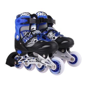 Giầy trượt patin longfeng 906 màu xanh