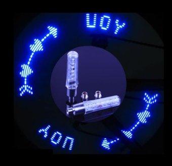 Bộ 2 đèn Led chạy chữ dành cho xe đạp (Xanh lam)