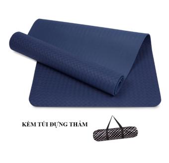 Thảm Tập Yoga Tpe 6mm 1 Lớp Cao Cấp(xanh navy) - Zeno
