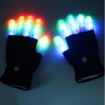 Bao tay có đèn led nhiều chế độ (Đen phối trắng)