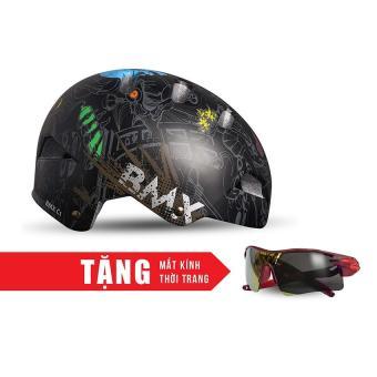 Nón bảo hộ cho người đi xe đạp FORNIX A02NC1 (Hình đầu lâu) + Tặng Mắt kính thời trang