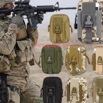 Túi đeo hông, thắt lưng đựng điện thoạị H03 (Nâu xanh)