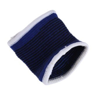 2 x Elastic Sport Sweatbands Wrist Sweat Bands Fitness GYM Wristband Band - intl