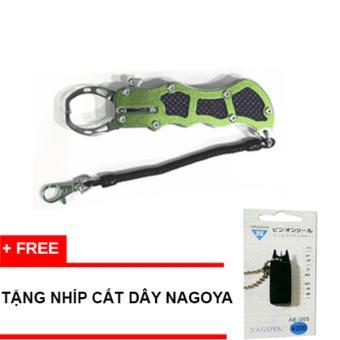 Kẹp cá bằng cacbon NAGOYA FISH GRIPPER màu green + tặng Nhíp cắt dây