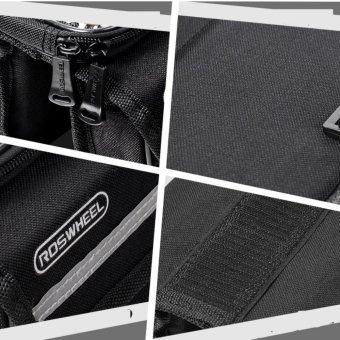 Túi 4 ngăn kèm túi hỗ trợ cảm ứng treo sườn xe đạp H181 (Đen)