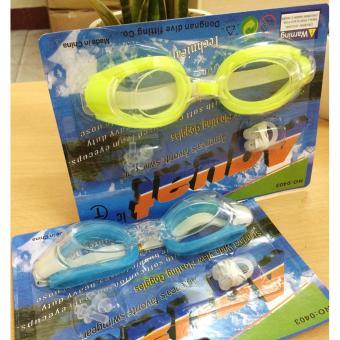 Bộ 2 kính bơi Aquatic cao cấp có nút chặn tai, kẹp mũi