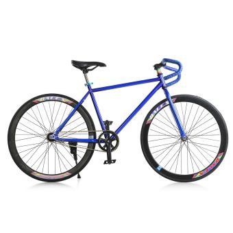 Mua Xe đạp Fixed Gear Single Cổ sừng dê (Xanh dương phối đen) giá tốt nhất