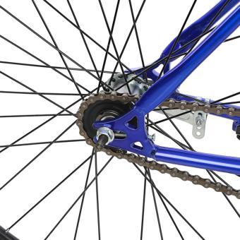 Xe đạp Fixed Gear Single Cổ sừng dê (Xanh dương phối đen)