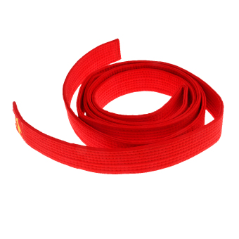 BolehDeals Cotton Felt Core Martial Arts Colored TKD Taekwondo Belt 280cm Red - intl