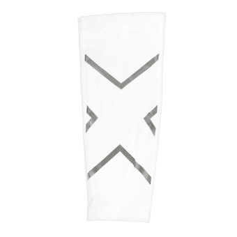 BolehDeals Basketball Compression Calf Shin Support Wrap Sports Brace Sleeve L White - intl
