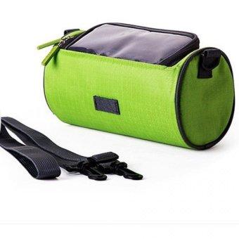 Túi treo tay lái xe máy, xe đạp chống nước, cảm ứng 3 ngăn H121 (Xanh lá)