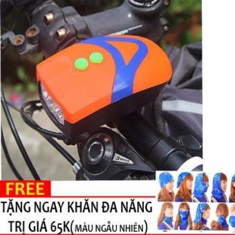 Đèn Pin gắn tay lái xe đạp kèm đế kẹp 3 chế độ L.E.D H101