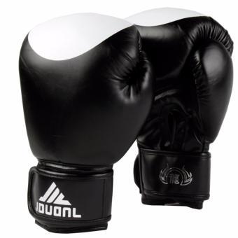 Găng tay tập boxing Jduanl chấm tròn 10oz (Đen)
