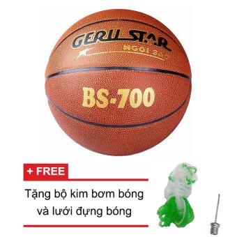 Quả bóng rổ Gerustar BS 700 (Nâu) + Tặng bộ kim bơm bóng và lưới đựng bóng