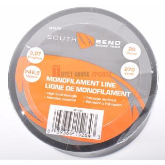 Dây cước câu cá Monofilament South Bend 20lb/270yd (9.07 kg/246.9 m) (Trong suốt)