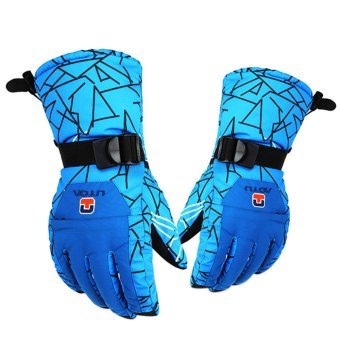 Winter Outdoor Skating Gloves Thermal Waterproof - intl