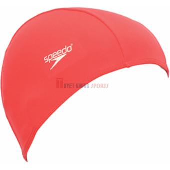 Nón Bơi Vải Speedo Polyester Cap (Đỏ)