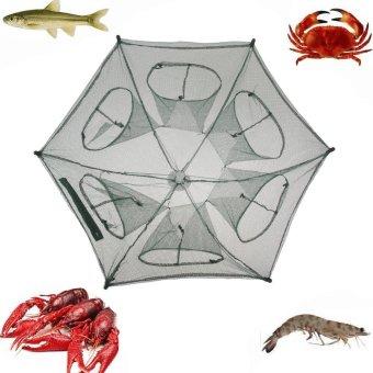Folding Fishing Net Fish Shrimp Minnow Crab Baits Cast Mesh Trap - intl