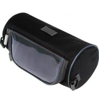 Túi treo ghi đông xe đạp nhiều ngăn chống nước có cửa cảm ứng cho điện thoại N121 (Xanh đen)