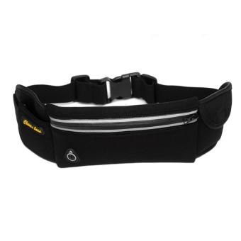 OH Anti-theft Slim Running Cell Phone Chest Waist Fanny Bag Sports Running Bag black+gray - intl