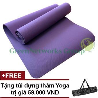 Thảm tập Gym Yoga TPE cao cấp Zera GnG 6mm + Tặng túi đựng thảm