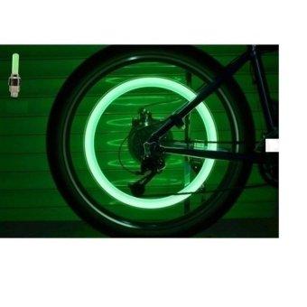 Bộ 2 đèn led gắn van bánh xe đạp (led đỏ)