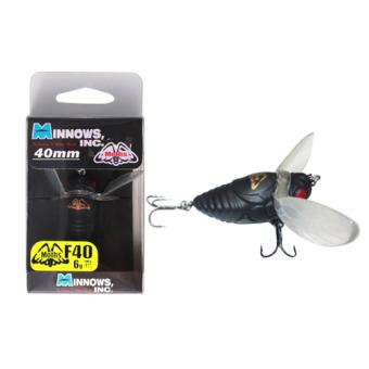 Mồi câu lóc ,chẽm Minnows inc Moths 6g 40mm màu : 02