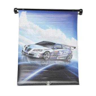 Che nắng kéo ô tô Auto Quoc Te LH-DS36-4 D01 hình xe xanh