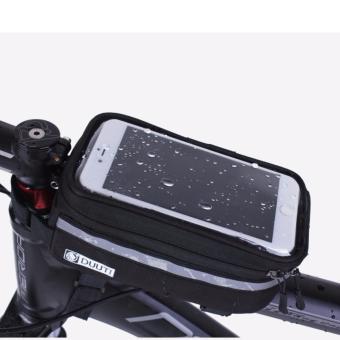 Túi treo sườn xe đạp cảm ứng, chống nước cao cấp BT99.77-ĐEN XÁM