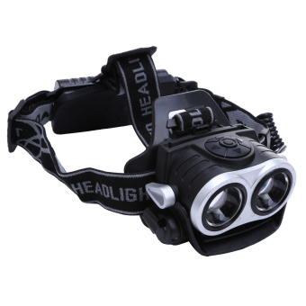 10000Lm 2x T6 LED Rechargeable Zoom 18650 Headlamp Headlight Torch USB - intl