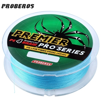 PROBEROS 100M PE 4 Strands Monofilament Braided Fishing Line Accessory 80LBS(Blue) - intl