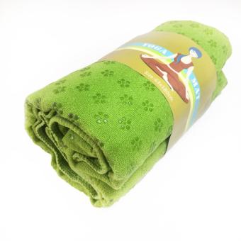 Khăn trải thảm tập Yoga bằng hạt PVC cao cấp chống trơn (xanh lá)