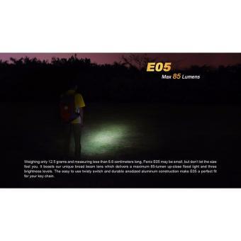 Đèn pin Fenix - E05 Black - 85 lumens (Màu đen - Kèm Pin AAA trong pack )