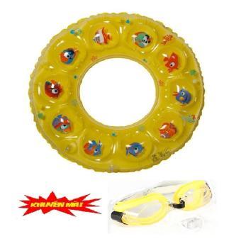 Phao bơi trẻ em summer time+Tặng kèm kính bơi trẻ em(Vàng)