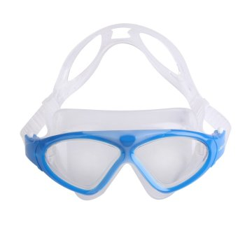 Children Anti-fog Waterproof UV Protect Swim Swimming Glasses Goggles Blue (Intl)