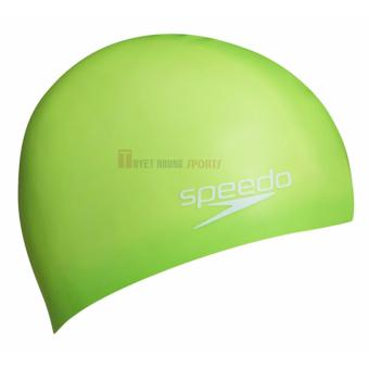 Nón Bơi Speedo Plain Moulded Silicone Trẻ Em (Xanh Lá Cây)
